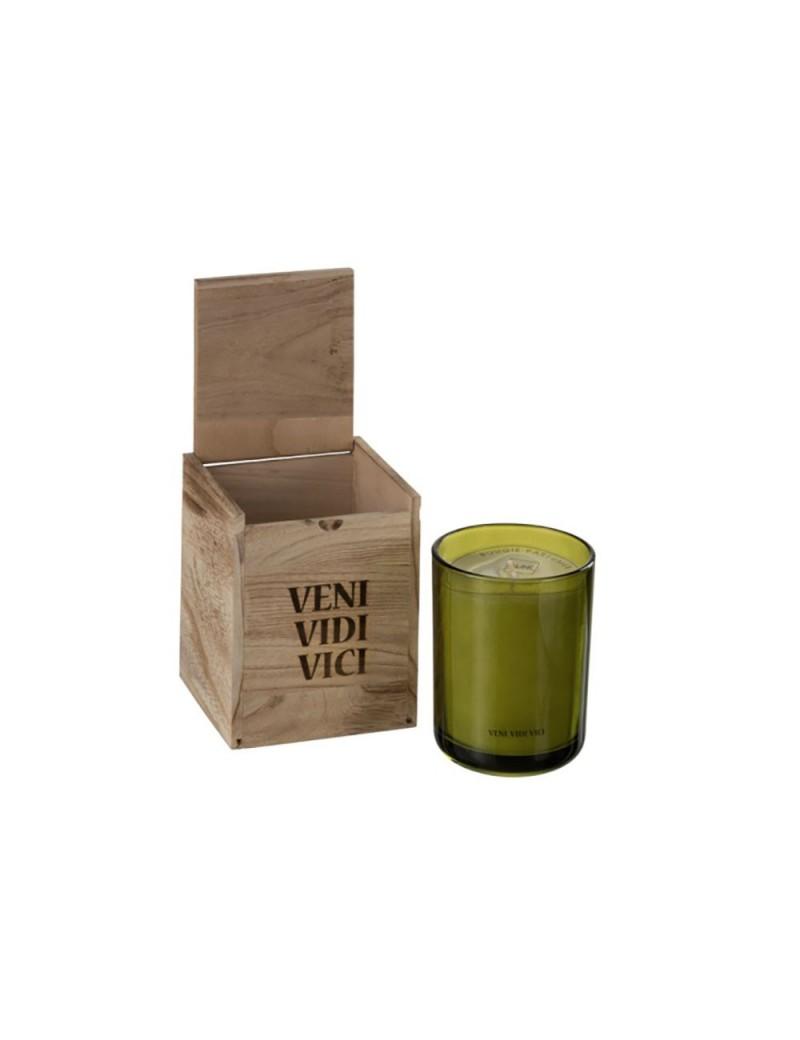 Boite Bougies Parfumées Veni Vidi Vici Cire Vert L 70H
