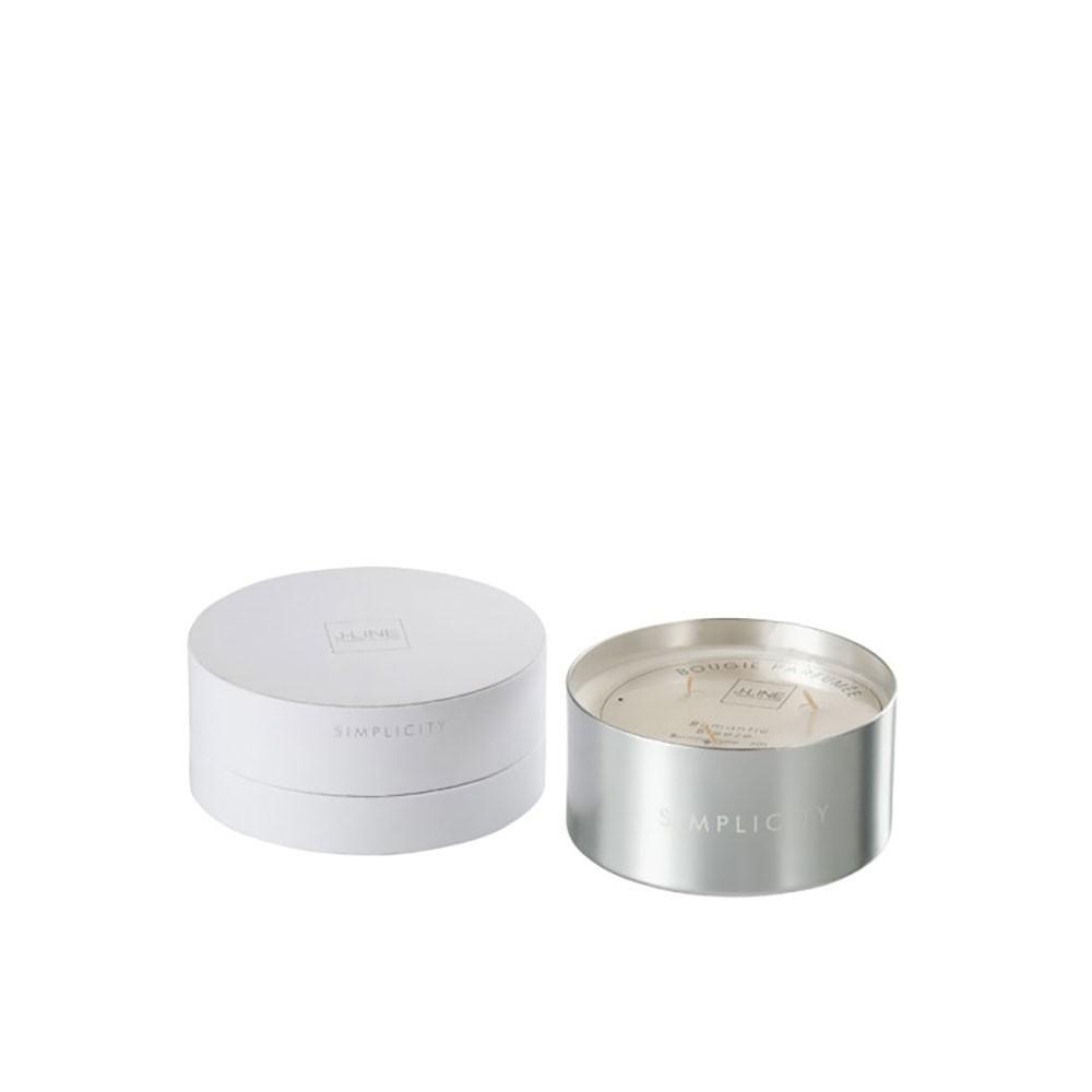 Bougie Parfumée Simplicity Cire Blanc/Argent 30H