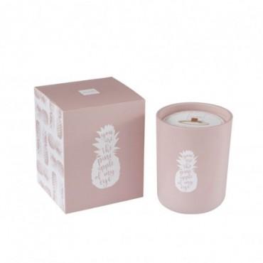 Bougie Parfumée Ananas Rose M-80H