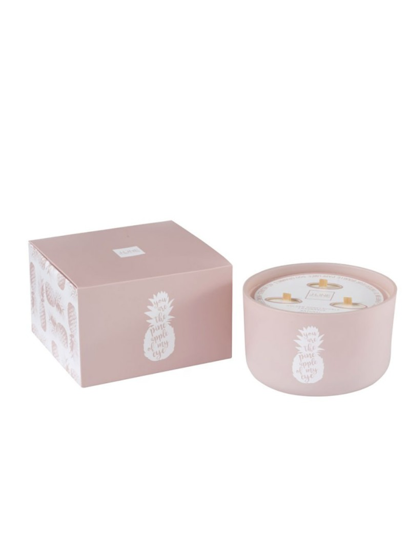 Bougie Parfumée Ananas Rose L-50H