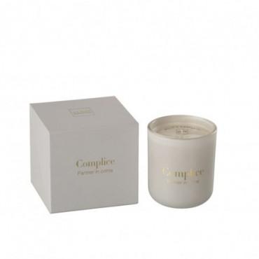 Bougie Parfumée Complice Cire Beige/Or 55H
