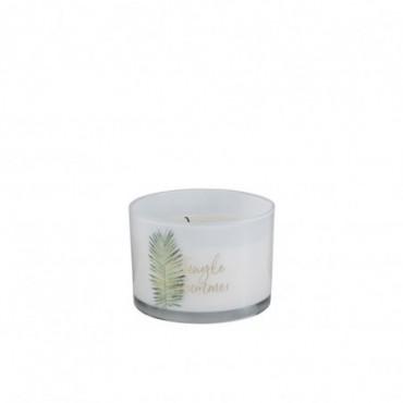 Bougie Parfumée Jungle Blanc/Vert L-30H
