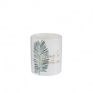Bougie Parfumée Jungle Blanc/Vert L-50H