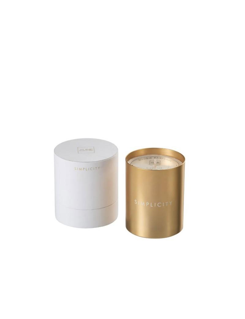 Bougie Parfumée Simplicity Cire Blanc/Or 70H