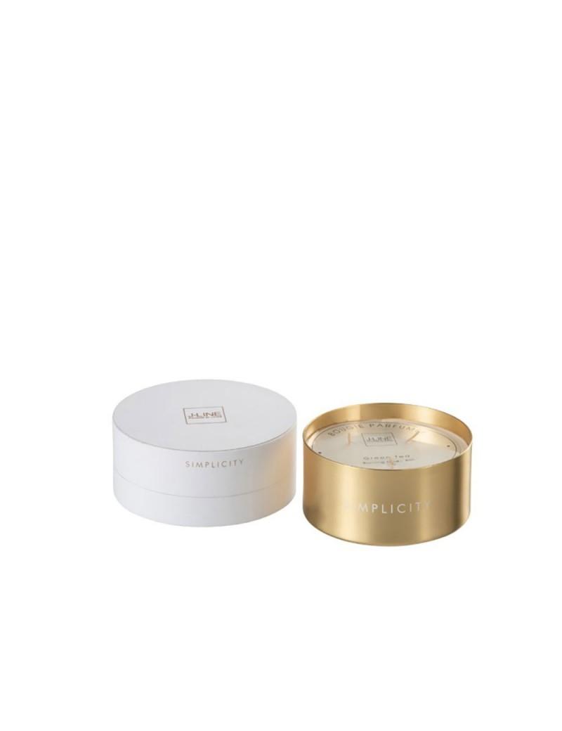 Bougie Parfumée Simplicity Cire Blanc/Or 30H