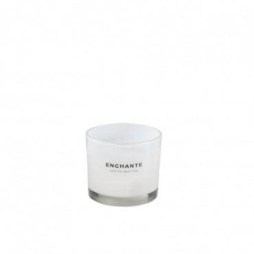 Bougie Parfumée Enchante Verre Blanc S-30H
