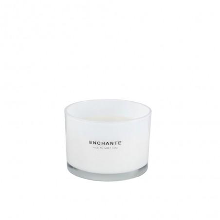 Bougie Parfumée Enchante Verre Blanc L-30H