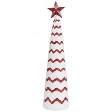 Sapin Noel Ciment Rouge/Blanc L
