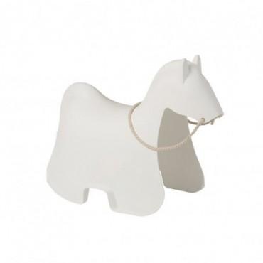 Chaise Enfant Cheval plastique Blanc