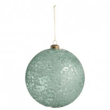 Boule Nacre Verre Transparent Azur Xl