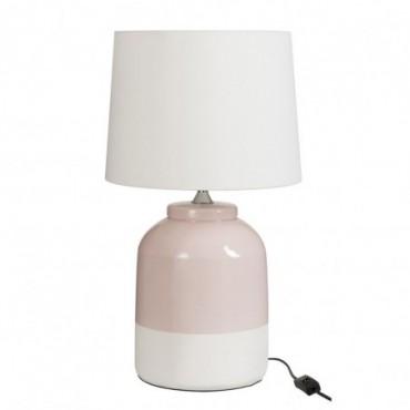 Lampe Ceramique Rose/Blanc