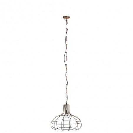 Lampe Suspendue Poire Barre Metal Cuivre
