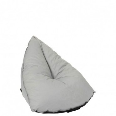 Pouf Poire Triangulaire Polyester Gris