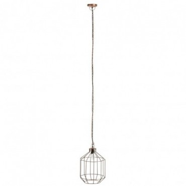 Lampe Suspendue Géométrique Barres Metal Cuivre