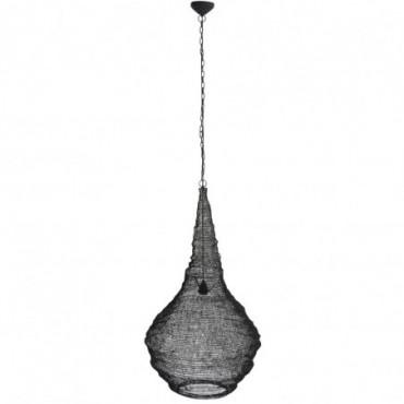 Lampe Suspendue Gaze Metal Mat Noir L