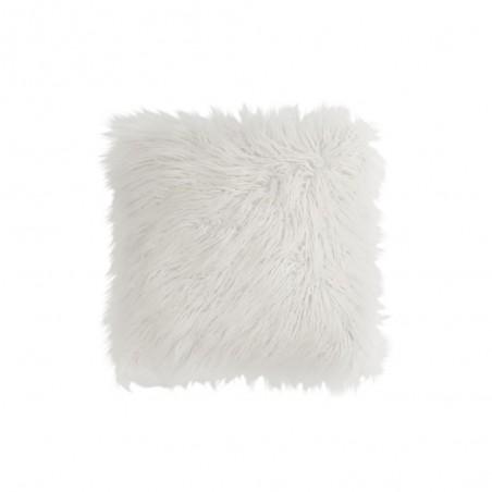 Coussin Poils Large Fourrure Blanc