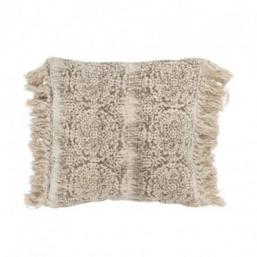 Coussin Oriental Coton Marron/Beige