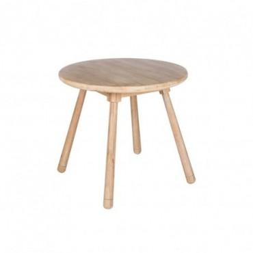 Table Enfant Rond Bois Naturel