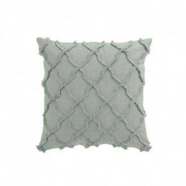 Coussin Wavy Rhombuses Cotton Mint
