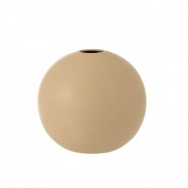 Vase Boule Ceramique Beige Grande taille