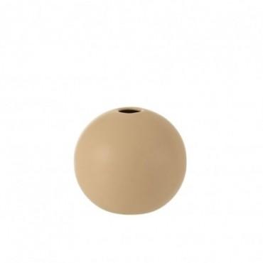 Vase Boule Ceramique Beige Taille moyenne