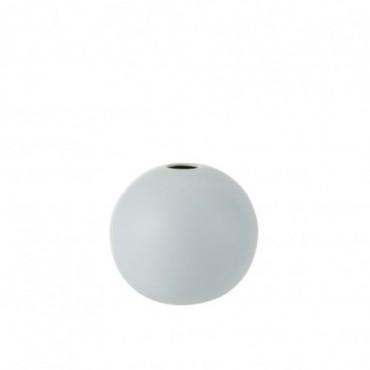 Vase Boule Ceramique Bleu Pastel Taille moyenne