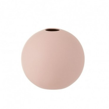 Vase Boule Ceramique Rose Pastel Grande taille