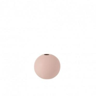Vase Boule Ceramique Rose Pastel Petite taille