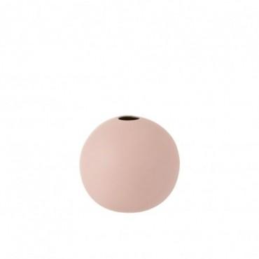 Vase Boule Ceramique Rose Pastel Taille moyenne