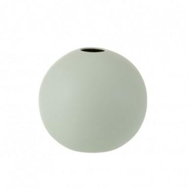Vase Boule Ceramique Vert Pastel Grande taille