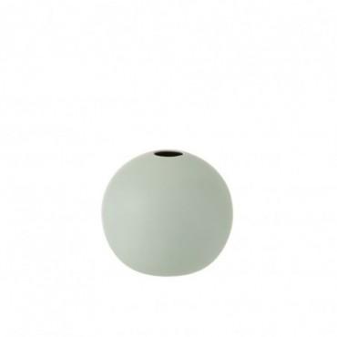 Vase Boule Ceramique Vert Pastel Taille moyenne