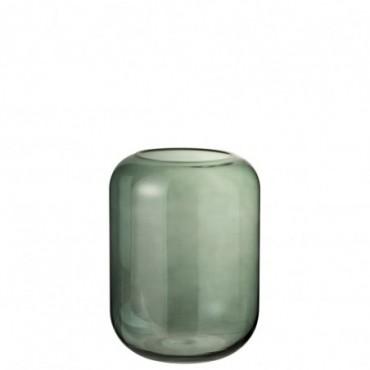 Vase Cylindre Verre Vert Taille moyenne
