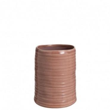 Vase Inegal Ceramique Rose Petite taille