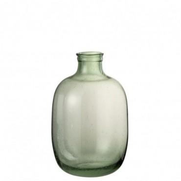 Vase Nora Rond Verre Vert Clair