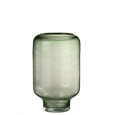 Vase Nora Sur Pied Rond Verre Vert Clair Grande taille
