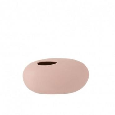 Vase Ovale Ceramique Rose Pastel Grande taille