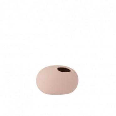Vase Ovale Ceramique Rose Pastel Petite taille