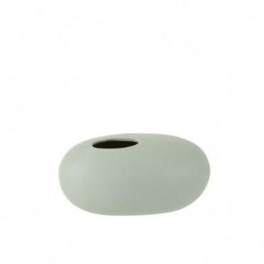 Vase Ovale Ceramique Vert Pastel Grande taille