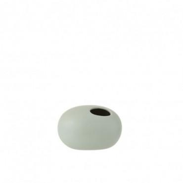 Vase Ovale Ceramique Vert Pastel Petite taille
