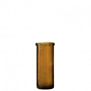 Vase Virginie Verre Ocre Grande taille