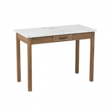 Table Bistrot Blanc/Bois Naturel