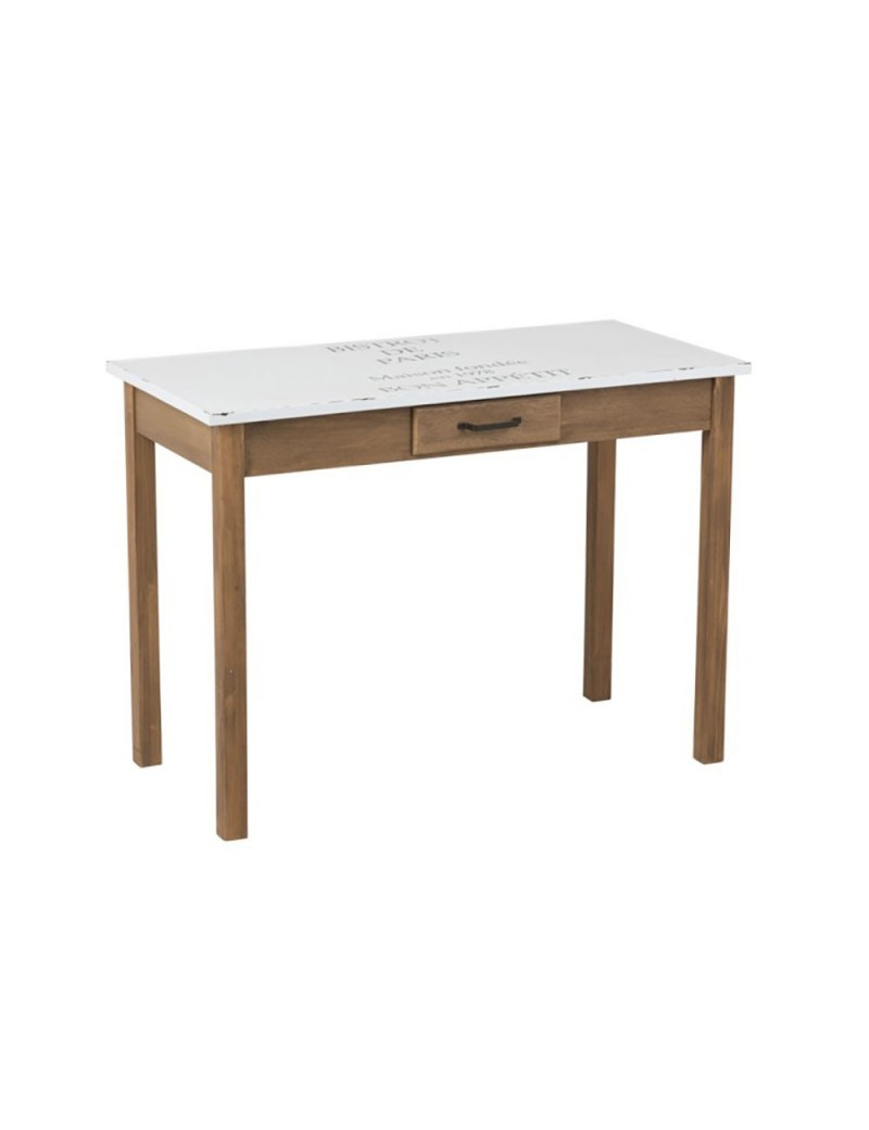 Table Bistrot Blanc/Bois Naturel