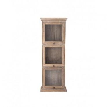 Cabinet 3 portes vitrines en manguier Bloomingville