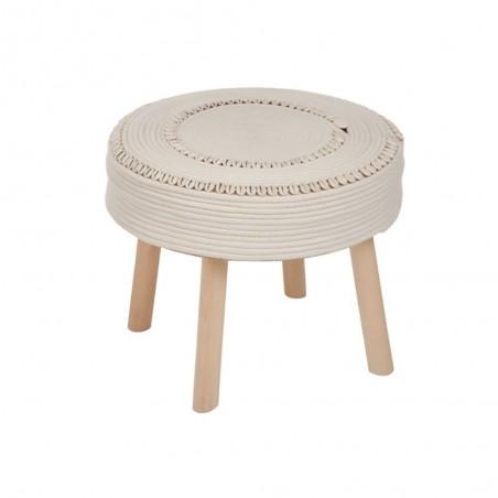 Table Gigognes Coton Crochet Blanc Coquillage