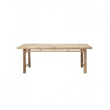 Table rectangulaire Bloomingville bambou naturel en bois