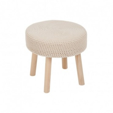 Table Gigognes Coton Crochet Beige