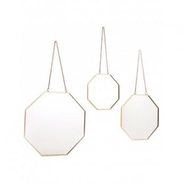 Miroirs géométriques à suspendre x3
