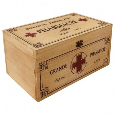 Boite à pharmacie vintage Vintage bois 30cm