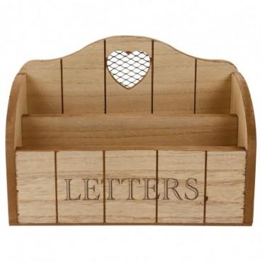 Range lettres mural avec coeur 25cm