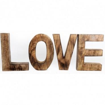 Lettres décoratives Love en bois 53x20cm